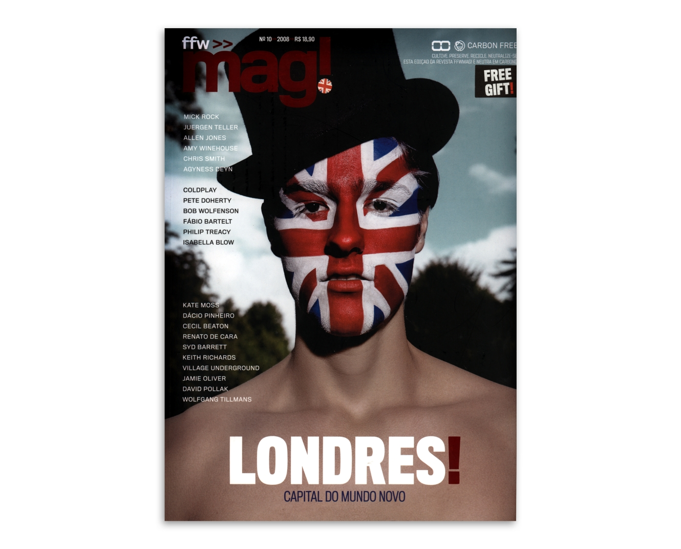 Fast Forward Magazine From Cover. Simon Brown Featured In London's One To Watch