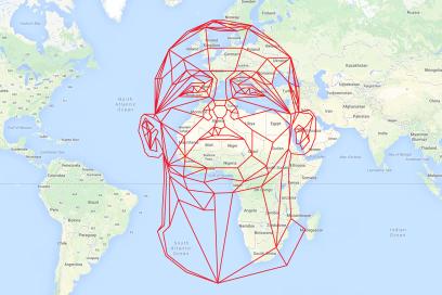 Design Antics Rooney's Head Over Africa, Google Maps