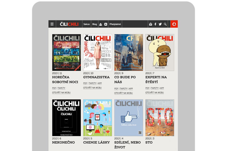 Ipad Website Design For Cilichili Magazine, Vodafone, Website Design By &&& Creative