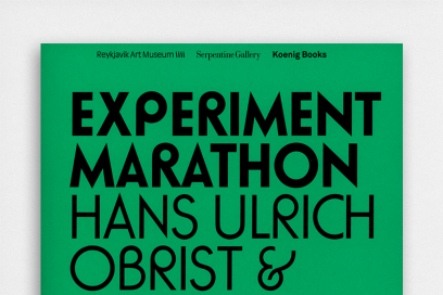 Hans Ulrich Obrist's & Olafur Ellisan Experiment Marathon Book