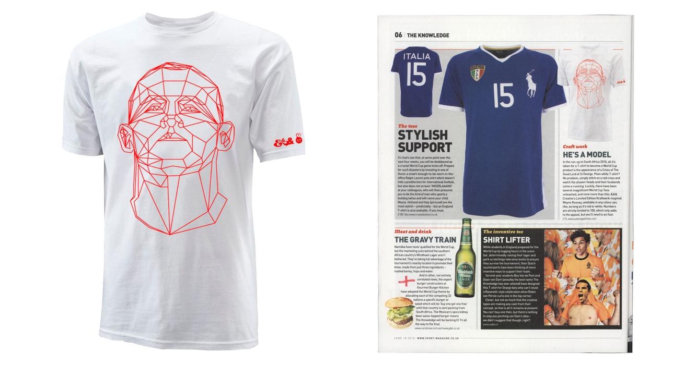 Rooney T Shirt Showcased In Sport Magazine