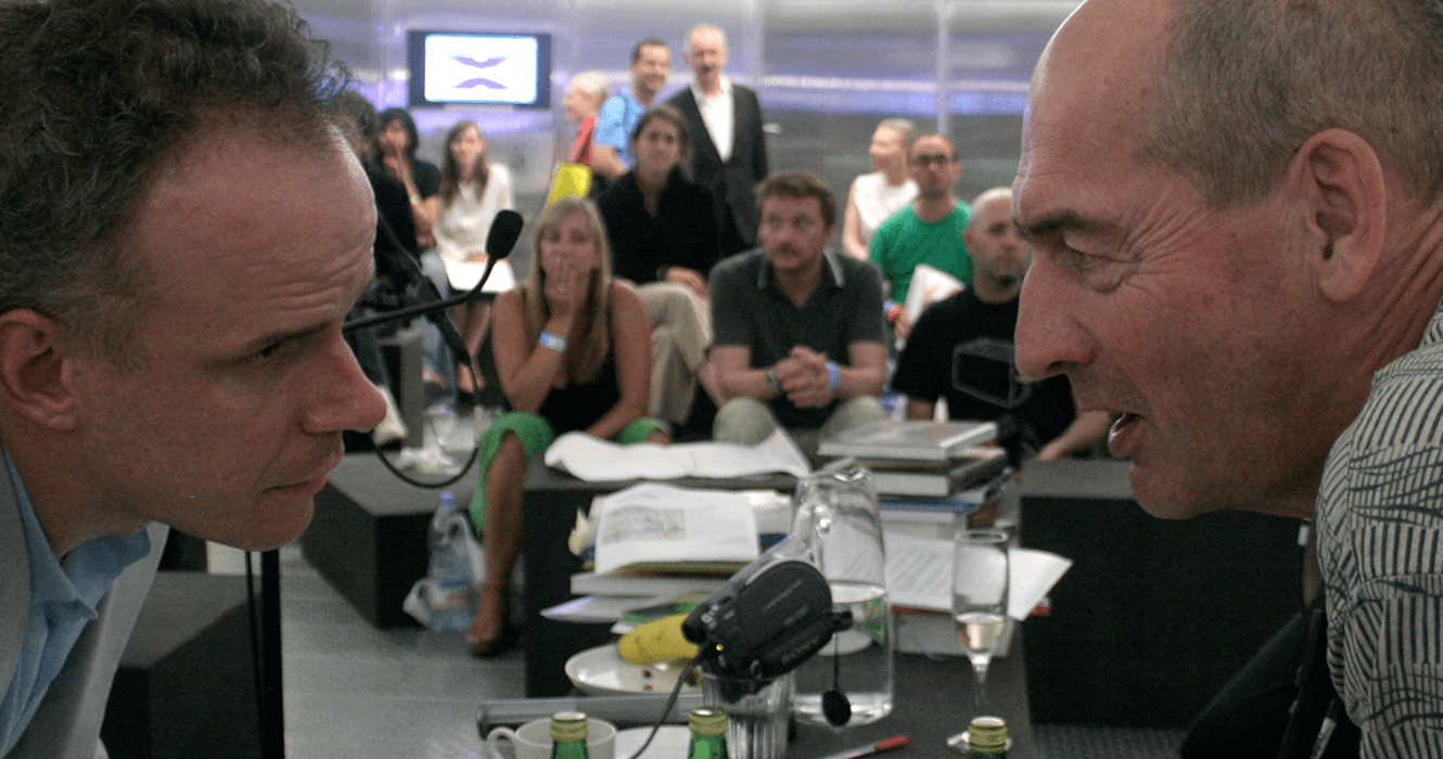 Hans Ulrich Obrist And Rem Koolhaas, Photography By By &&& Creative