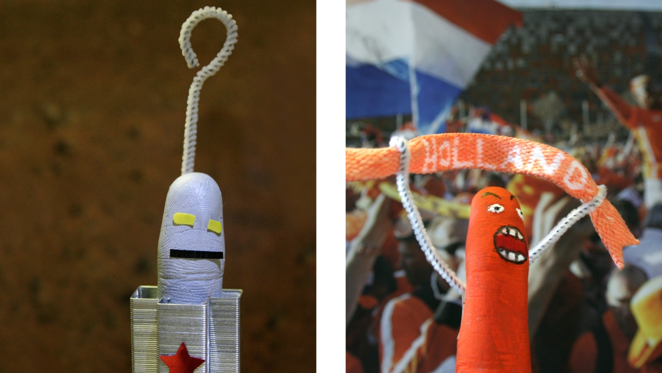 Robot & Dutch Football Fan From The Smart Gesture Finger Family Designed By &&& Creative