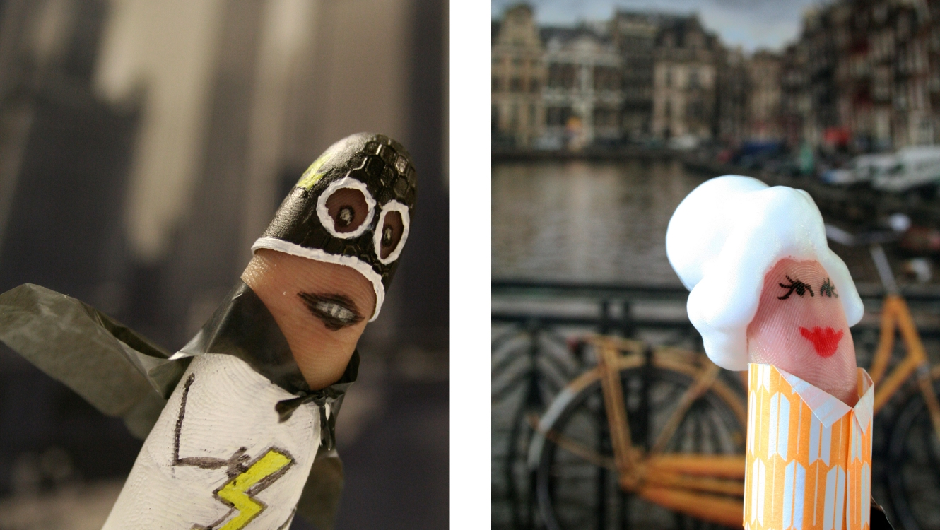 Super Finger & Canal Lover From The Smart Gesture Finger Family Designed By &&& Creative