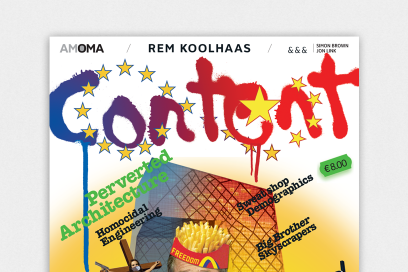 Book Cover Design For Content   Rem Koolhaas Design By &&& Creative