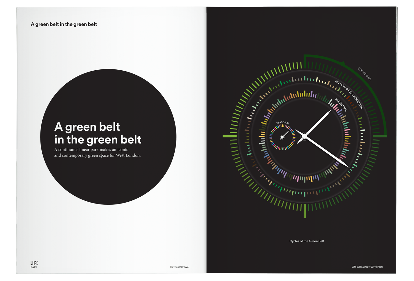 Creative Direction For Hawkins\Brown. London Heathrow City Book Designed By &&& Creative