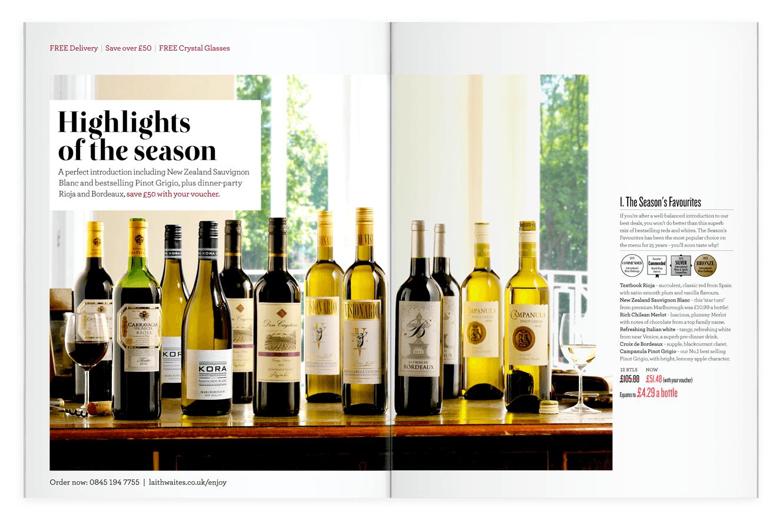 Wine Plan Direct Marketing Magazine Design For Laithwaite's Wines By &&& Creative