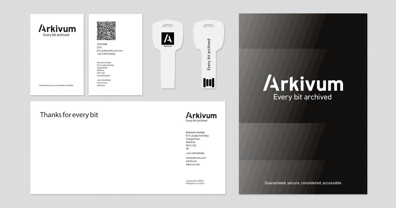 Stationery Designed For Arkivum Ltd