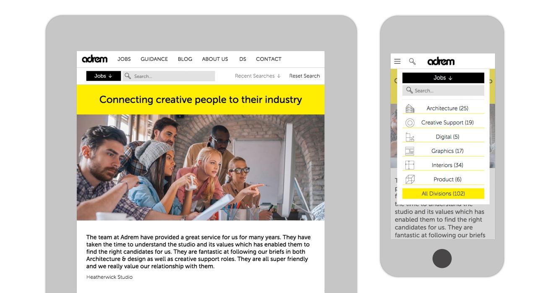 Adrem Website Design By &&&