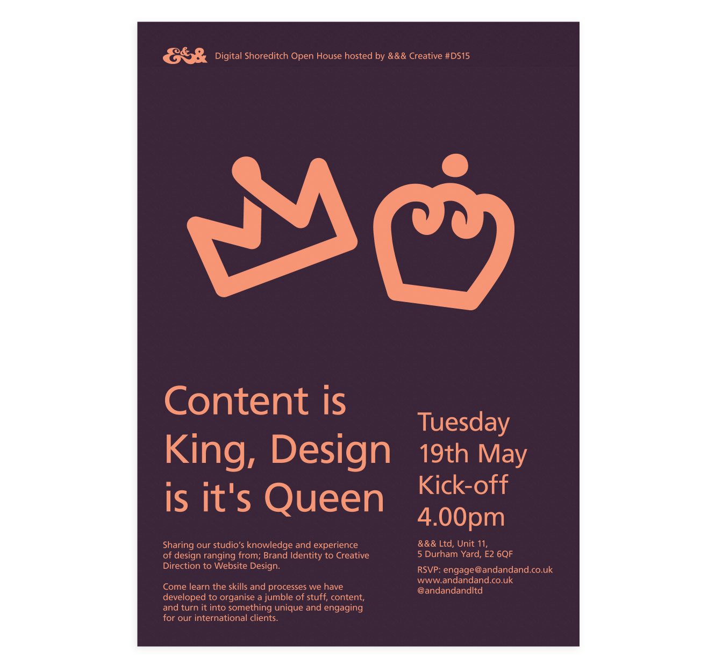 Poster   Content Is King, Design Is It's Queen