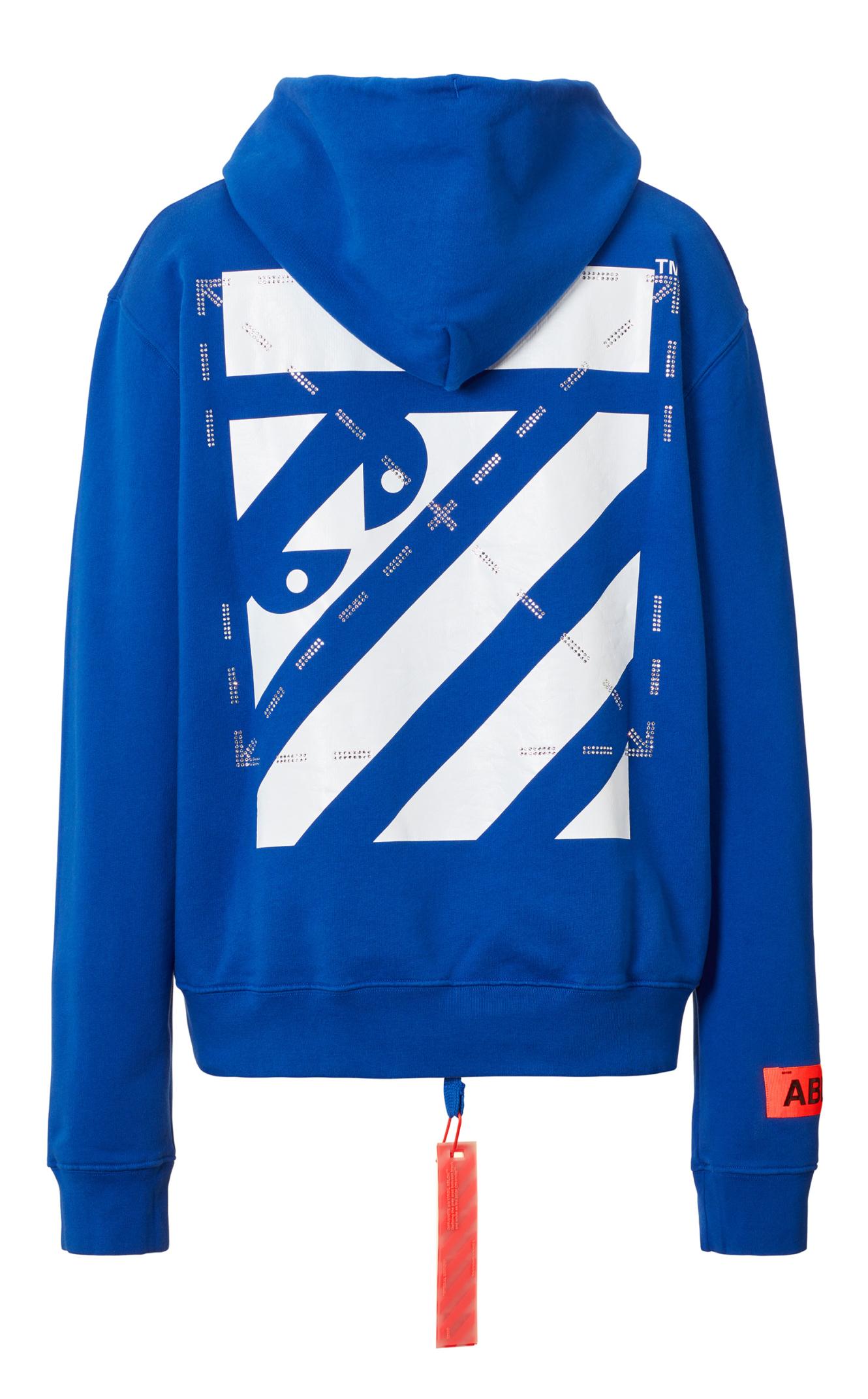 FOS C/o MCA Blue Hoodie Off White C/o &&&Ltd